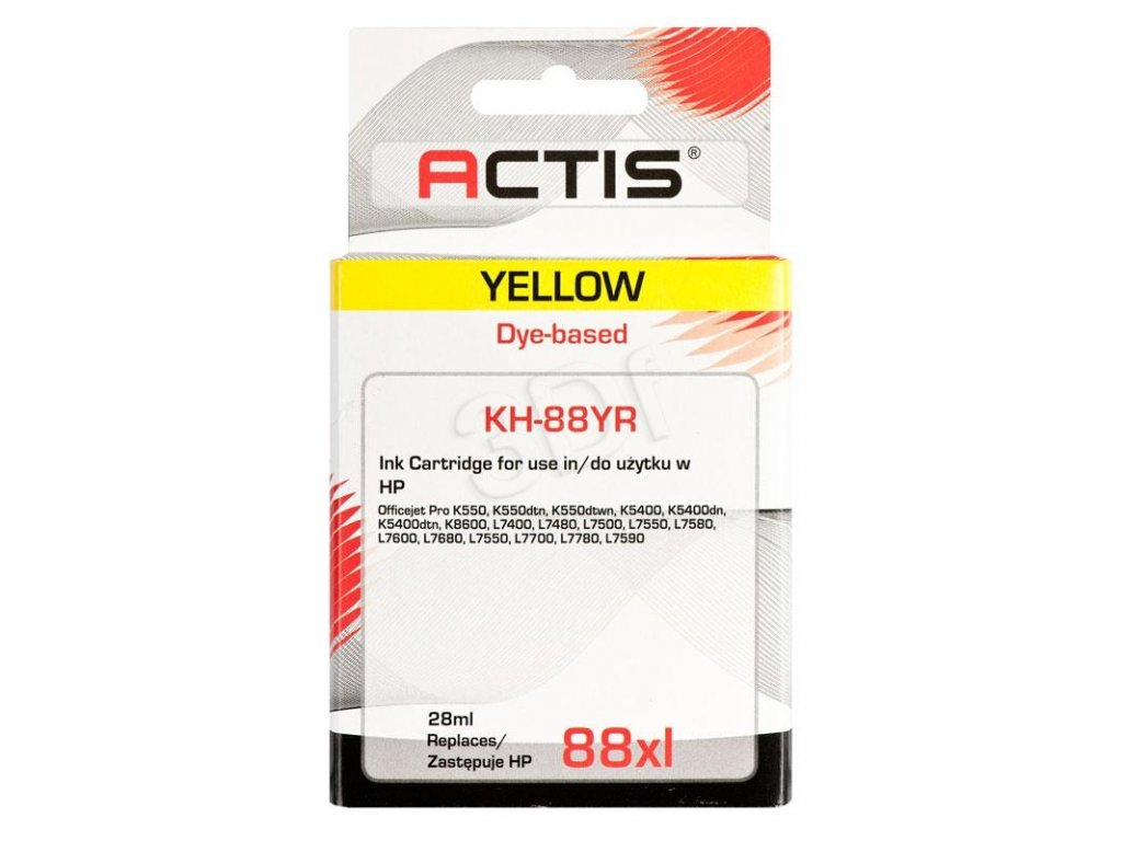 HP AH-391 žlutá  č.88XL (28 ml.) ACTIS
