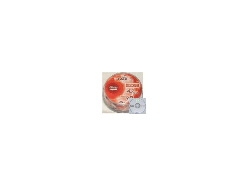 DVD-R Titanium 4,7 GB 10ks