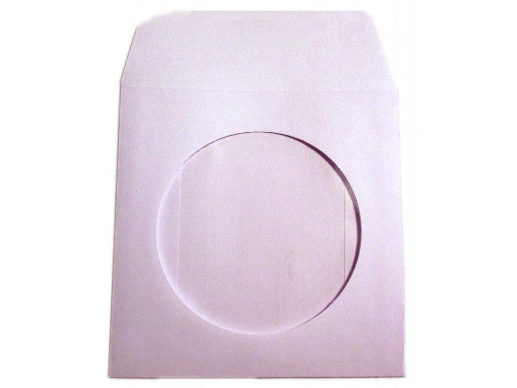 Obálka papírová na CD 10ks s okénkem samolepicí