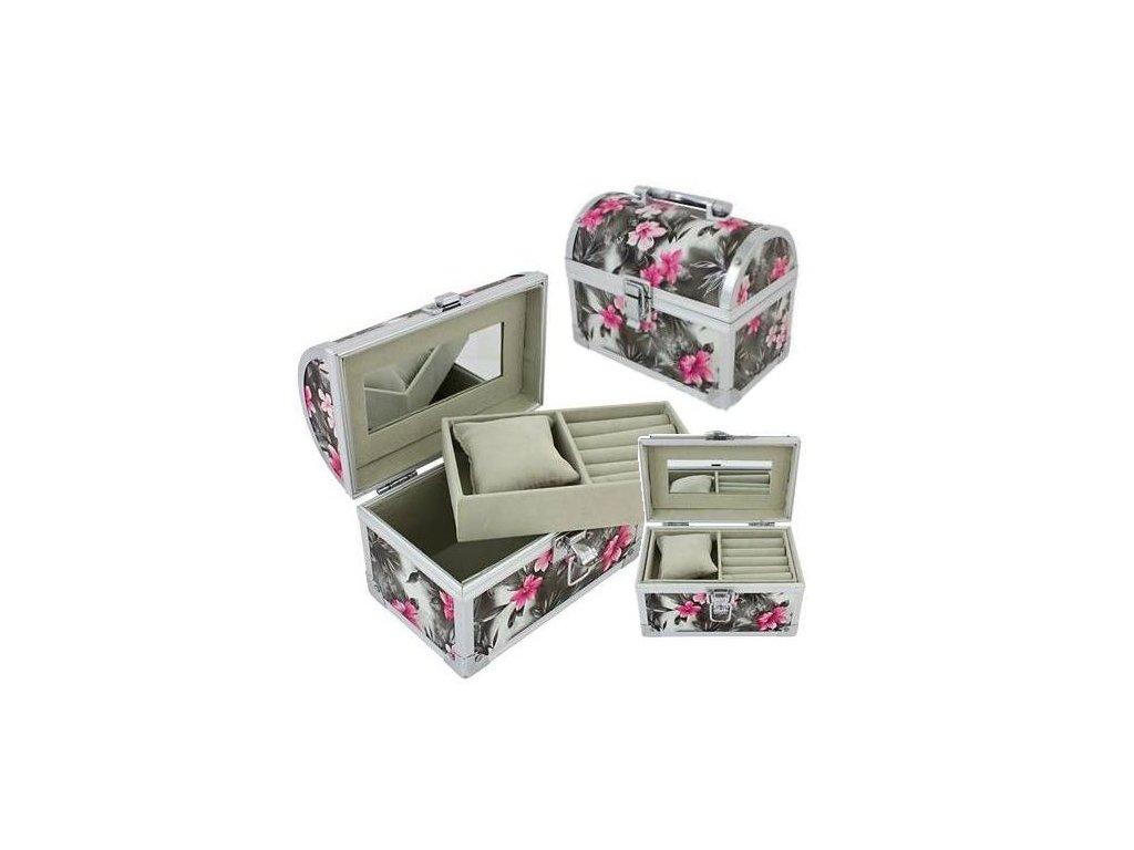 GNT Kosmetický kufřík na bižuterii Květ CA12A