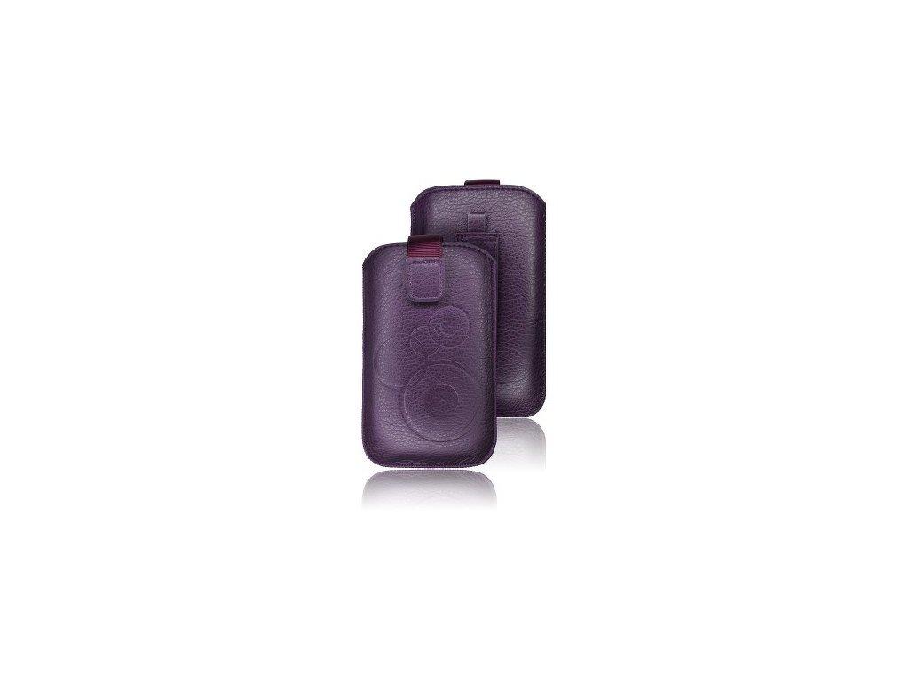ForCell Deko pouzdro na mobilní telefon pro Purple  HTC Desire C, Samsung S6500, S5360,...