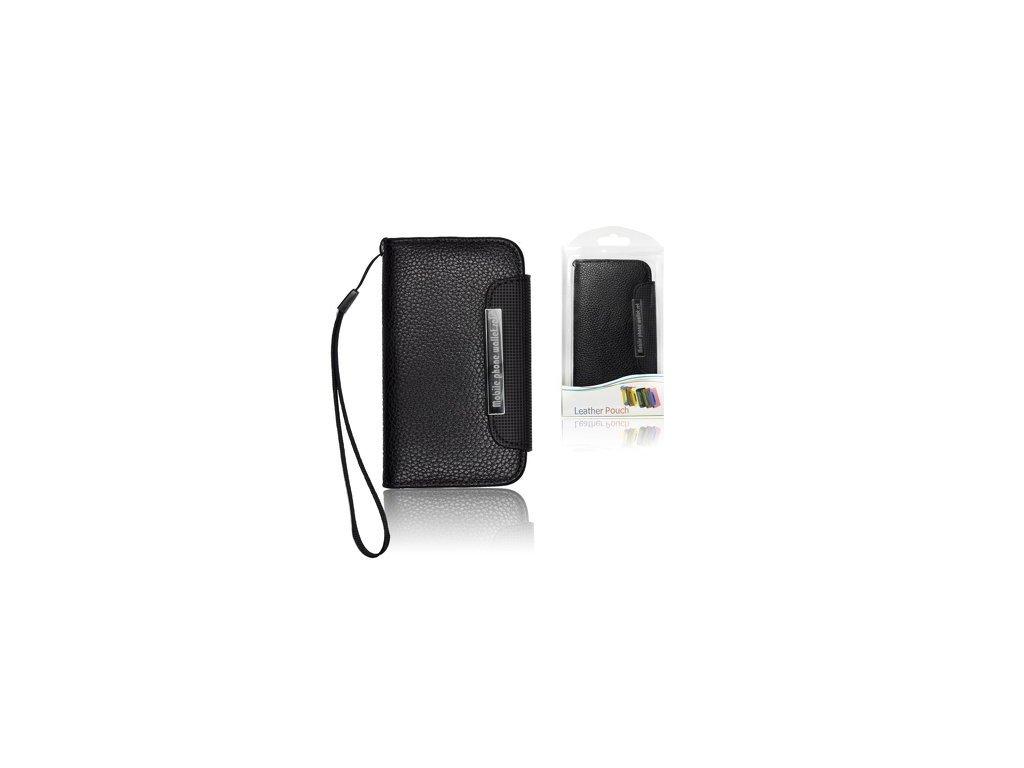 ForCell Portfelik Flip Black Pouzdro na mobilní telefon Black pro iPhone 5