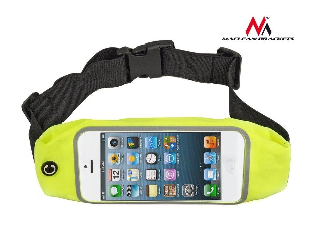 """Maclean Brackets sportovní bederní pouzdro telefon 5,7""""- ledvinka žlutá"""