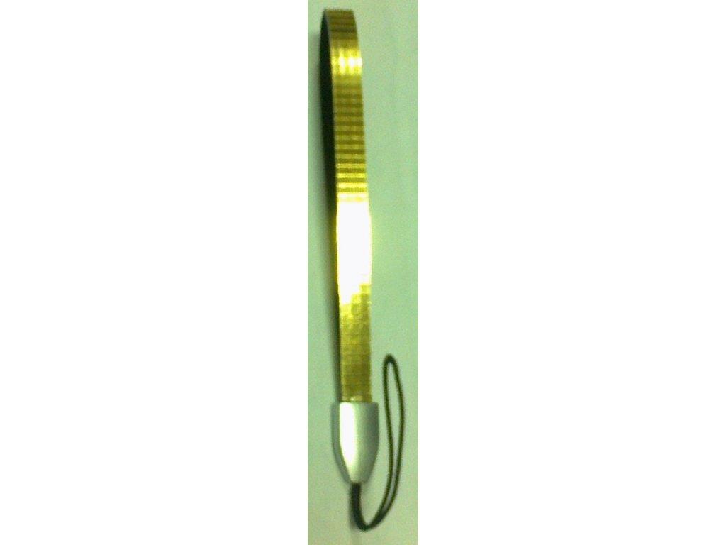 Klíčenka/popruh na zápěstí zlatá