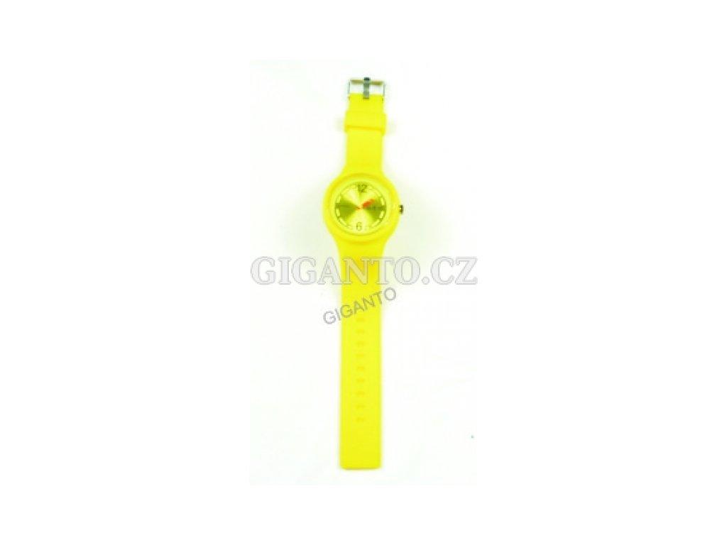 GNT Moderní silikonové hodinky  žluté