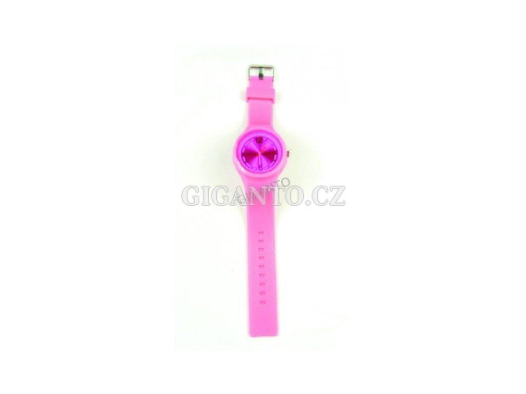 GNT Moderní silikonové hodinky  růžové