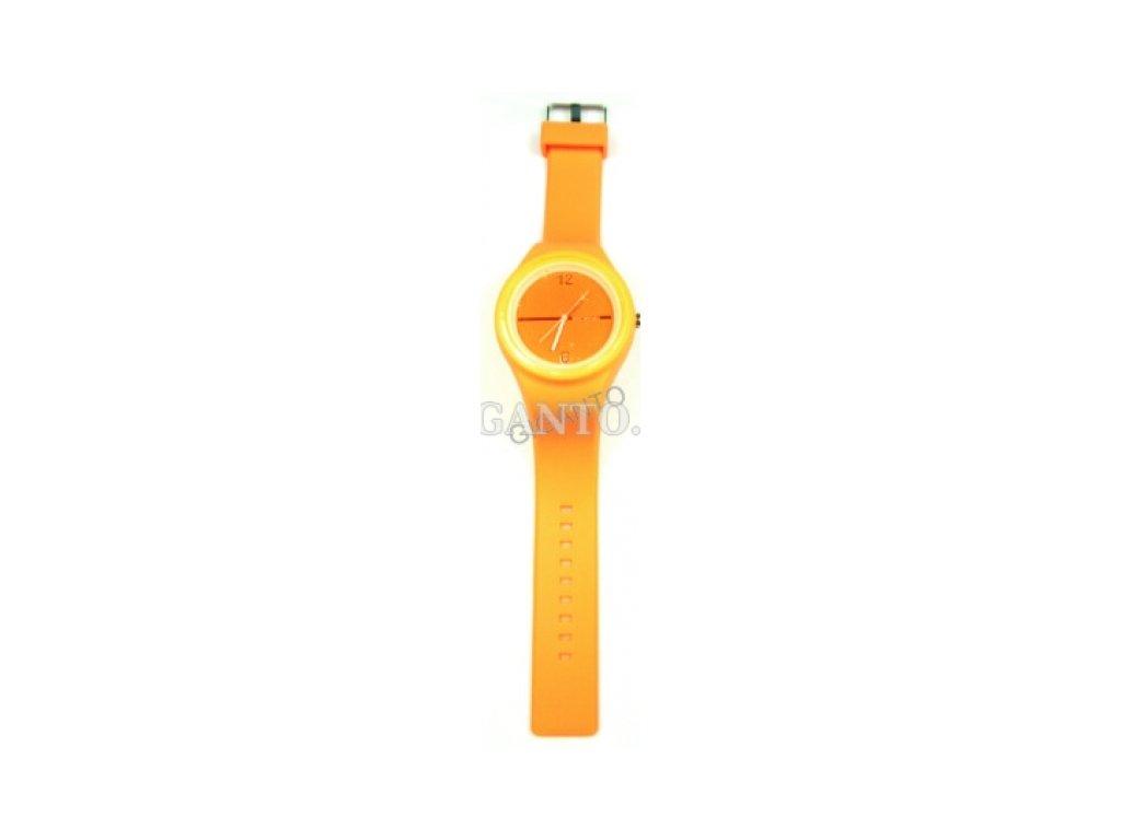 GNT Moderní silikonové hodinky JELLY  orange