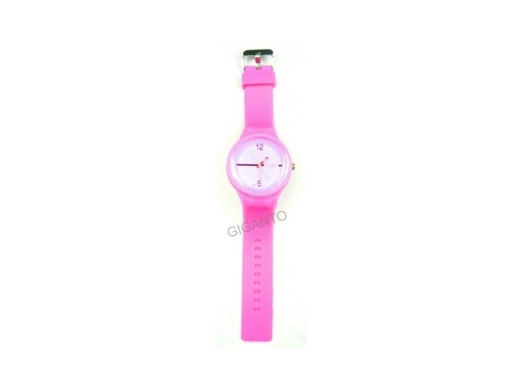 GNT Moderní silikonové hodinky JELLY  růžové