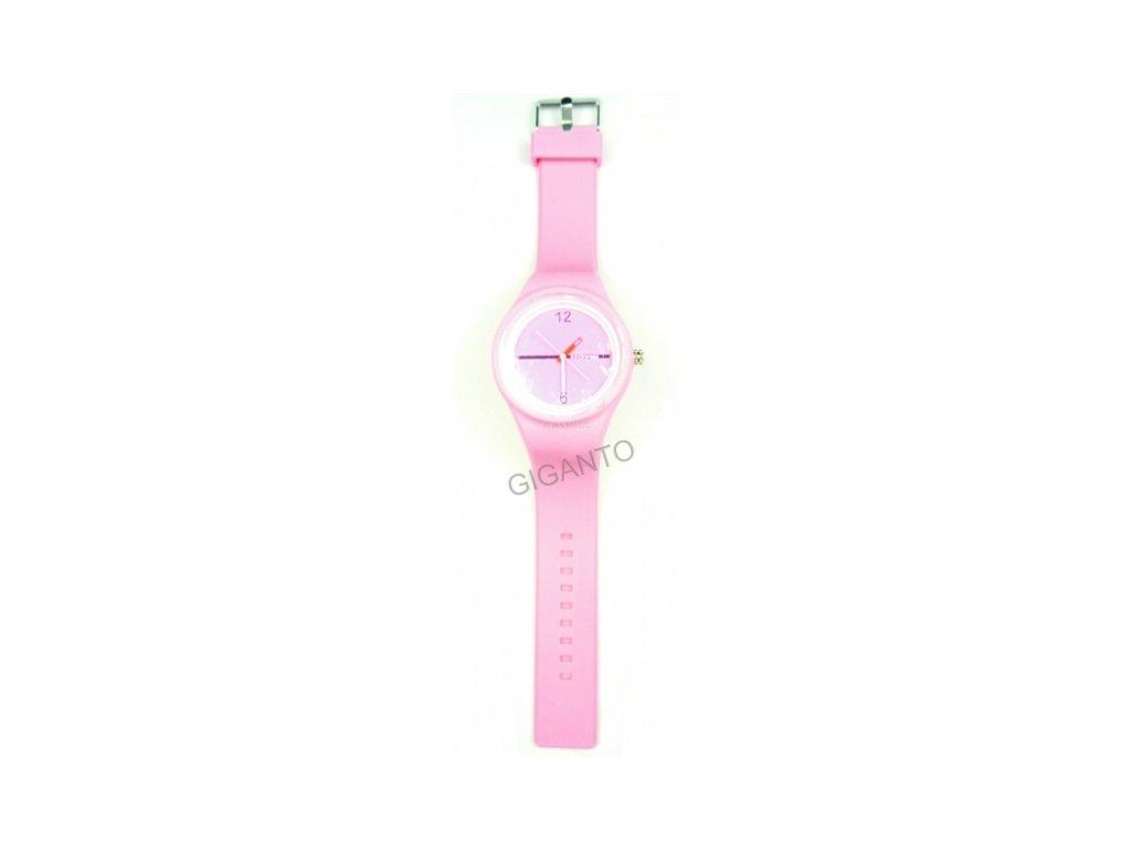 c8703a1bc GNT Moderní silikonové hodinky JELLY světle růžové - Giganto.cz