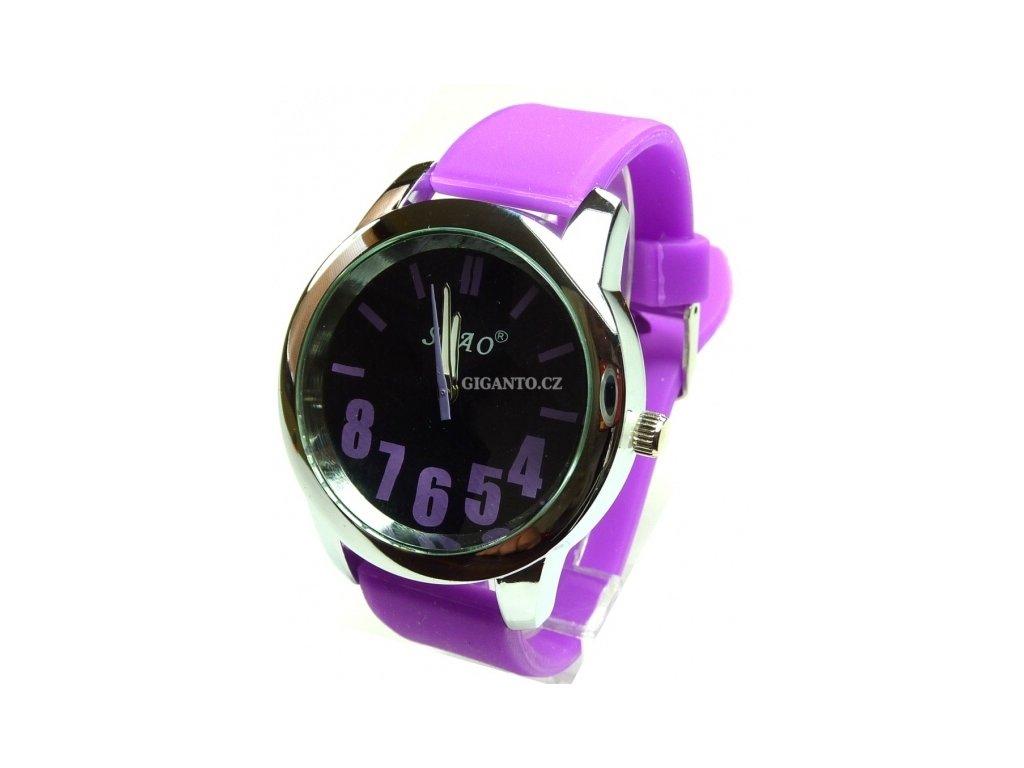 GNT Moderní silikonové hodinky  fialové