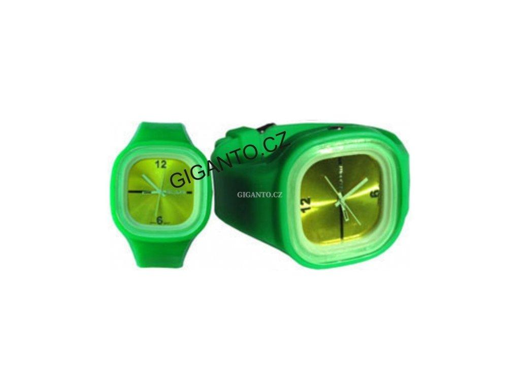 GNT Moderní silikonové hodinky JELLY zelené