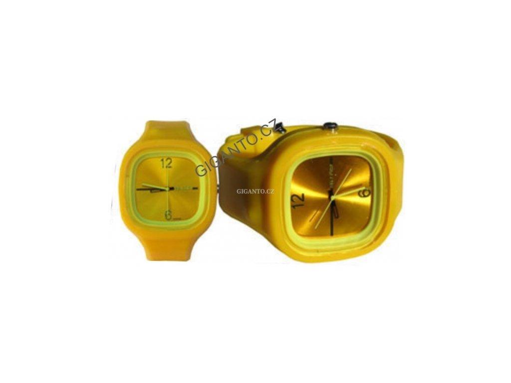 GNT Moderní silikonové hodinky JELLY - žluté
