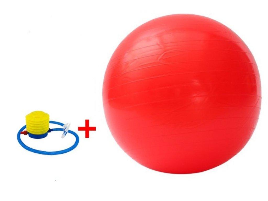 Fitness gymnastický míč 650 mm + pumpa červený