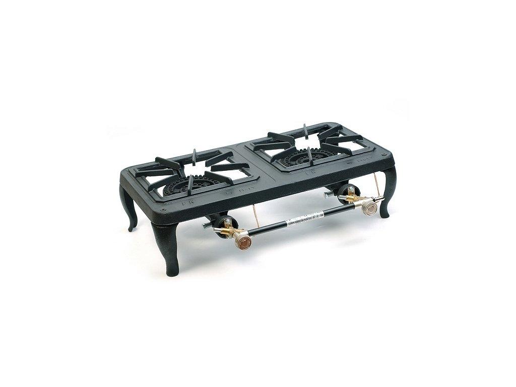 Plynová stolička - průmyslový plynový vařič 2x 4 kW termopojistka II .jakost