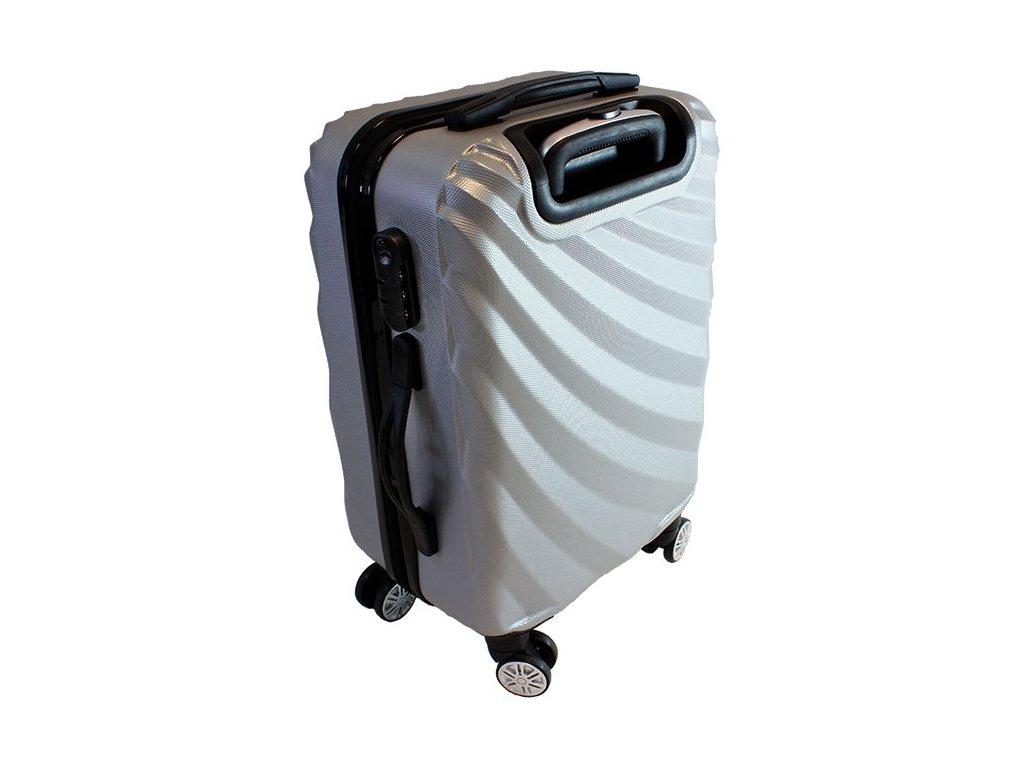 GNT AG508C skořepinový kufr střední 37x23x56 cm Stříbrná