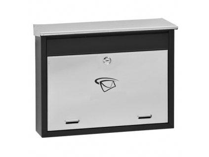GNT Poštovní schránka LUX1 Černá/NEREZ