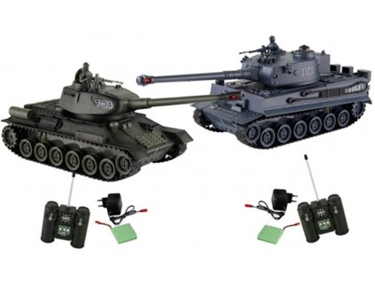 RC tank bojový set 2ks 1:28