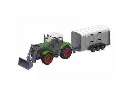 RC Traktor FARM QY8301G Vlečka na přepravu skotu 1:28