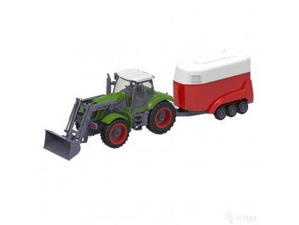 GNT RC Traktor FARM QY8301H přívěs na přepravu koní 1:28