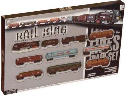 Vláčkodráha RAIL KING vláček s 9 vagónky