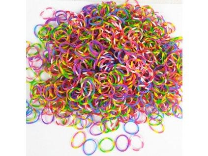 Pletací gumičky Loom Bands 200 kusů + háček multicolor