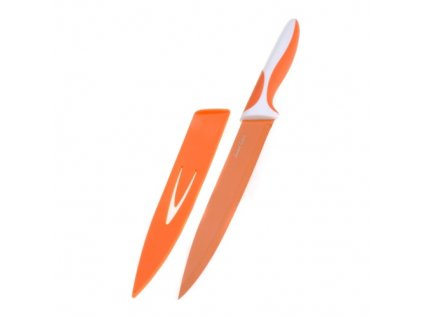 Smart Cook Ocelový nůž s keramickým povlakem 33cm, nízký oranžový
