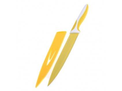 Smart Cook Ocelový nůž s keramickým povlakem 33cm, nízký žlutý