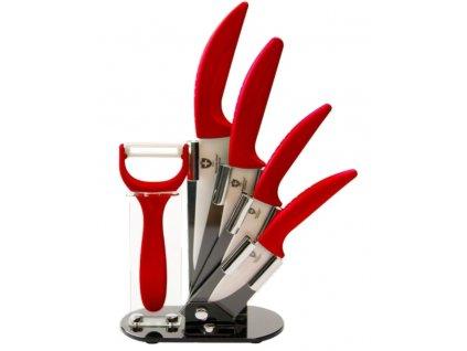 Royalty Line Sada keramických nožů 5 ks RL-C4ST-R červené