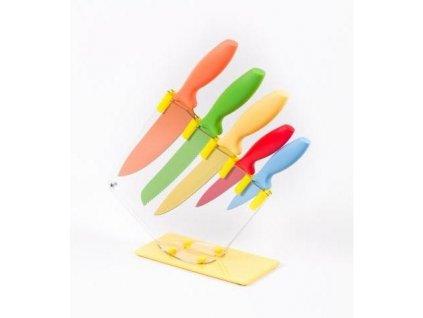 Nože s keramickým povrchem 5 dílů + stojánek TW3420