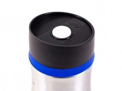 Termohrnek cestovní modrý, nerez 380 ml
