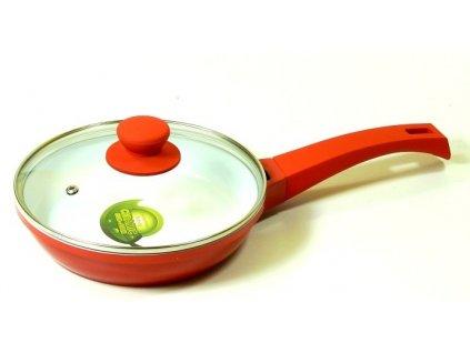 Pánev s keramickým povrchem 20 cm - červená