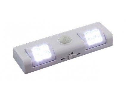GNT Noční světlo s PIR čidlem na 3x AA, 8x LED bílé