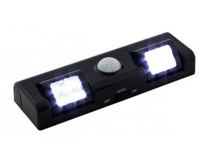 GNT Noční světlo s PIR čidlem na 3x AA, 8x LED černé