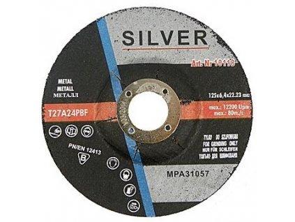 Brusný kotouč na kov 125 x 6,4 mm Silver