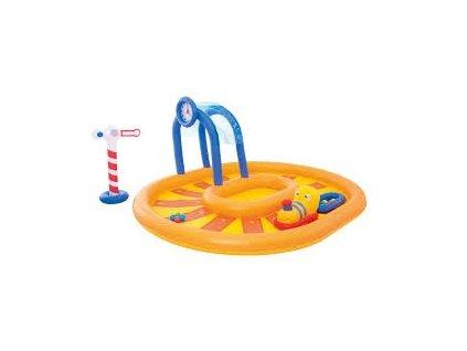Bestway 53061 nafukovací bazének vláček53061s fontánou a skluzavkou