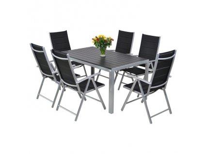 Home&Garden Zahradní sestava Ibiza Pollywod silver/black