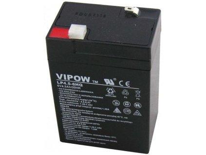Baterie olověná 6V/ 4.5Ah VIPOW bezúdržbový akumulátor
