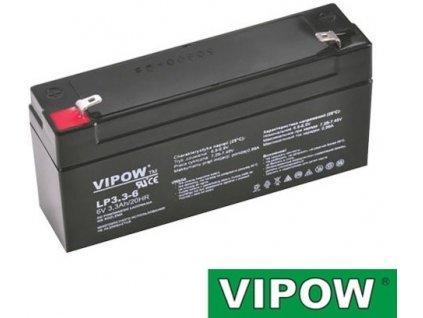 Baterie olověná 6V / 3,3Ah - bezúdržbový akumulátor