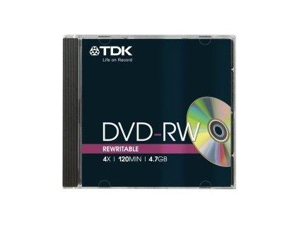 DVD-RW TDK 4,7GB 4x, jewel