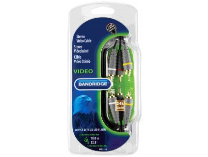 Kompozitní video kabel stereo-BANDRIDGE BN-BVL5310 (10m)