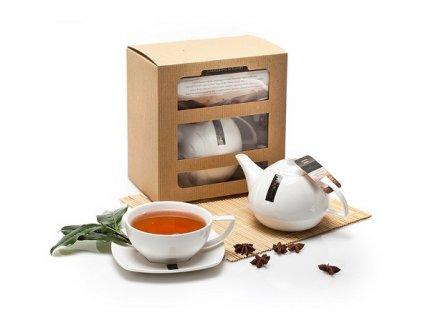 Richmond Tea čajová kolekce s konvičkou dárková sada 12+1