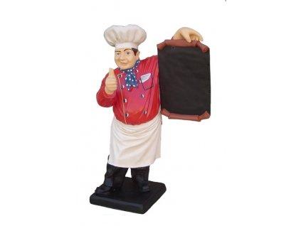 Probal Reklamní poutač - kuchař s tabulí 44cm.