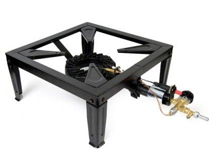 Plynová stolička 6,4 kW - průmyslový plynový vařič piezo + termopojistka