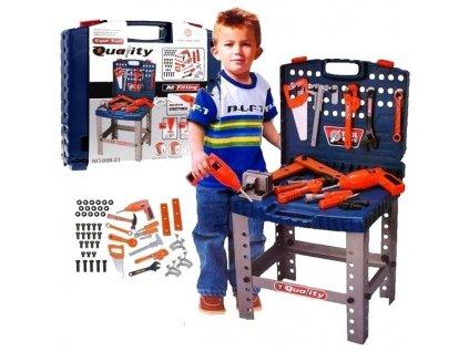 Hrací set Dětský kufřík s nářadím a pracovní stůl