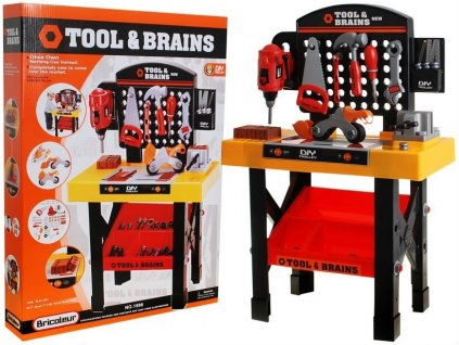 Kinderplay dětská dílna s nářadím Tools & Brains