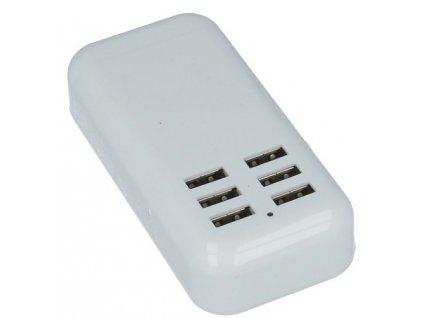 GNT Nabíječka cestovní 6x USB 2,5A