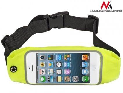"""Maclean Brackets sportovní bederní pouzdro telefon 4,8""""- ledvinka žlutá"""