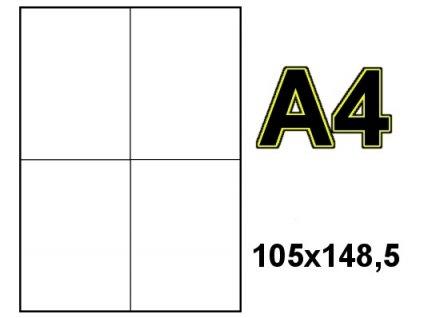 Labelmedia 1051484 Samolepící etikety 105x148mm bílé 100 listů