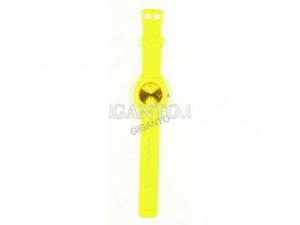 GNT Silikonové hodinky  žluté