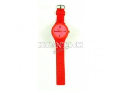 GNT Moderní silikonové hodinky  red